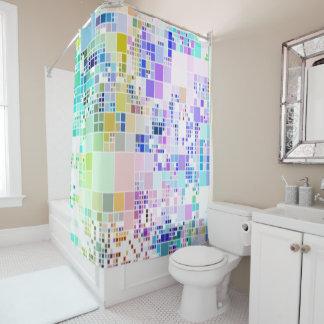 Cortina de ducha fresca del arte geométrico de los cortina de baño