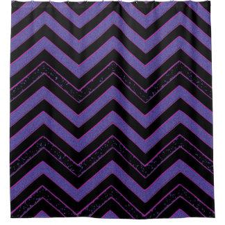 Cortina de ducha fresca retra negra púrpura de cortina de baño