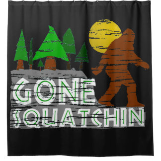 Cortina de ducha ida original de Squatchin del Cortina De Baño
