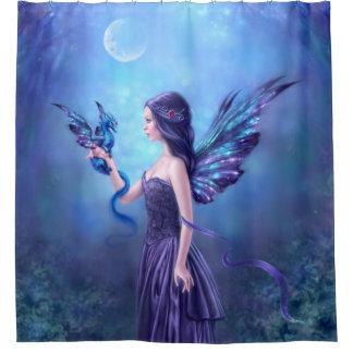 Cortina de ducha iridiscente del arte de la hada y cortina de baño
