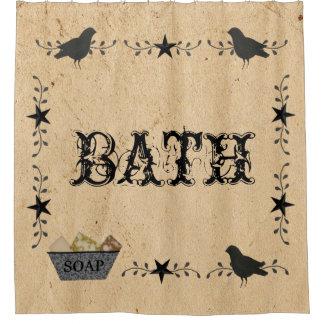 Cortina de ducha primitiva del baño cortina de baño