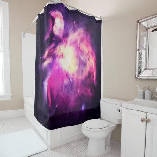 Cortina de ducha púrpura de la nebulosa de Orión Cortina De Baño