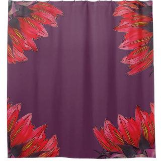 Cortina de ducha púrpura de la orquídea oscura cortina de baño