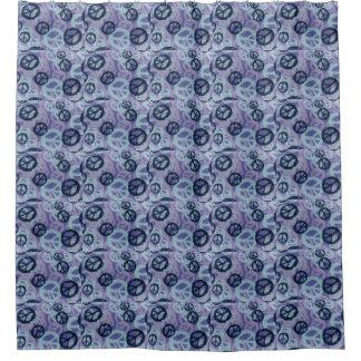 Cortina de ducha púrpura de los signos de la paz cortina de baño