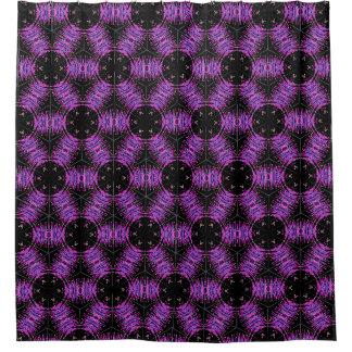 Cortina de ducha púrpura del caleidoscopio cortina de baño