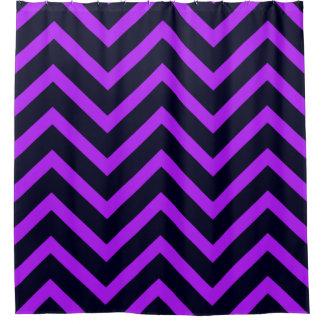 Cortina de ducha púrpura negra del modelo del cortina de baño