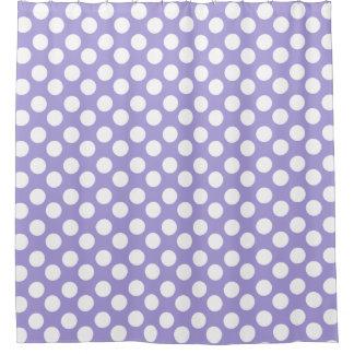 Cortina de ducha púrpura y blanca del lunar cortina de baño