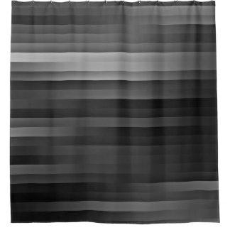 Cortina de ducha rayada negra y gris cortina de baño