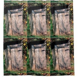Cortina de ducha rústica de la dependencia cortina de baño