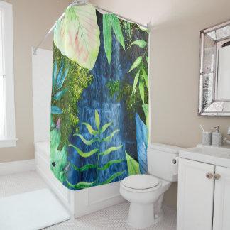 cortina de ducha tropical del paraíso 2 de la cortina de baño