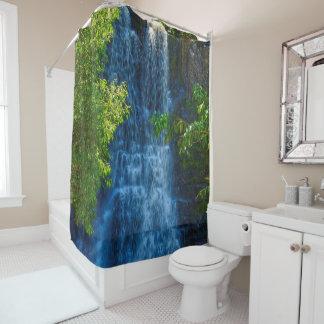 cortina de ducha tropical del paraíso de la cortina de baño