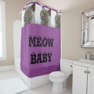 Cortina de fiesta de bienvenida al bebé púrpura cortina de baño