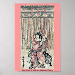 Cortina de la cuerda por Nishimura, Shigenaga Ukiy Posters