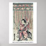 Cortina de la cuerda por Nishimura, Shigenaga Ukiy Impresiones