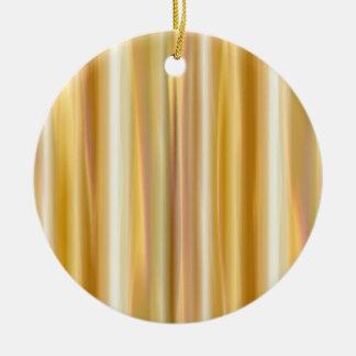 Cortina de la seda del oro adorno navideño redondo de cerámica