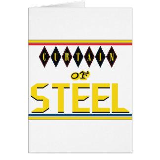 Cortina de la tarjeta de felicitación de acero