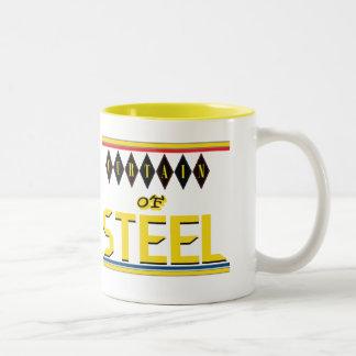 Cortina de la taza de acero del Dos-Tono