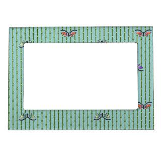 cortina del mariposa y de bambú marcos magnéticos