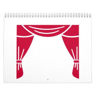 Cortina del teatro calendarios de pared