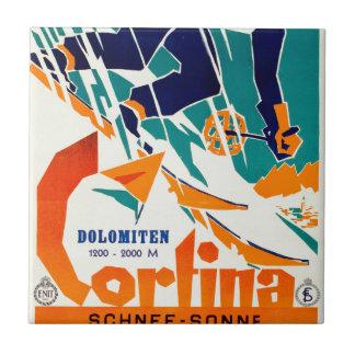 Cortina, Dolomiti Azulejo Cuadrado Pequeño