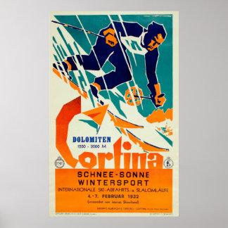 Cortina, Dolomiti Poster