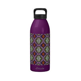Cortina moldeada retra Ogee Quatrefoil Botella De Agua