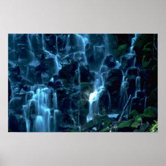 Cortinas de agua póster