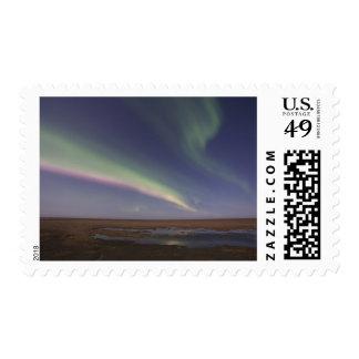 Cortinas de la aurora boreal coloreada sello