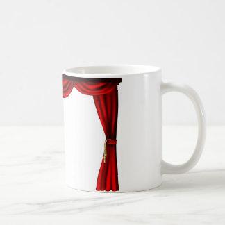 Cortinas del teatro o del cine tazas de café