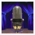 Cortinas retras del micrófono y de la etapa anuncios