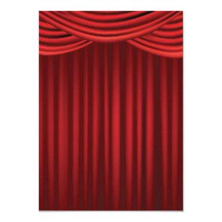 """Cortinas rojas de la etapa invitación 4.5"""" x 6.25"""""""