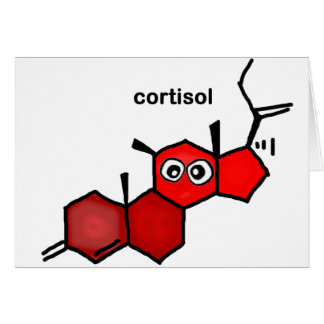 Cortisol Greeting Card