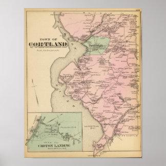 Cortland, aterrizaje del Croton, Nueva York Póster