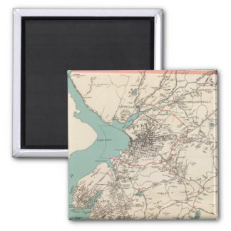 Cortlandt town 2 inch square magnet