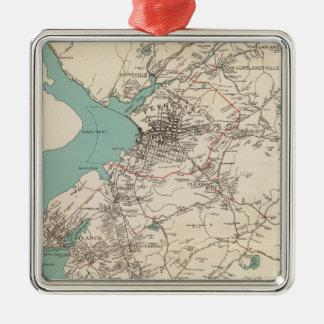 Cortlandt town metal ornament