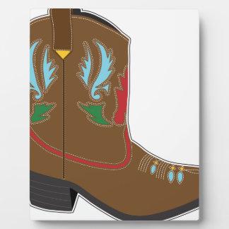 Cortocircuito de las botas de vaquero placa