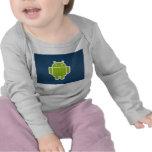 Cortocircuito largo androide infantil de la manga camisetas