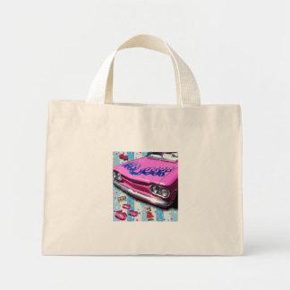 Corvair rosado bolsa tela pequeña