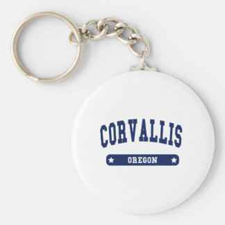 Corvallis Oregon College Style tee shirts Key Chain
