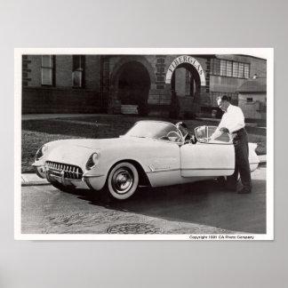 Corvette 1953 póster