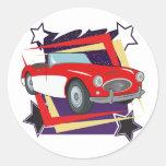 Corvette 1957 del vintage pegatina redonda