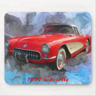 Corvette 1957 tapetes de ratón