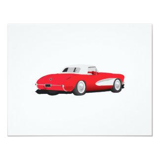 Corvette 1959 invitación 10,8 x 13,9 cm