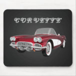 Corvette 1961 C1: El caramelo Apple acaba: Mousepa Tapete De Raton