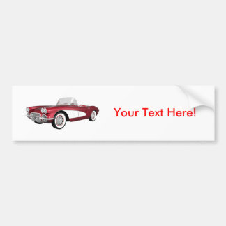Corvette 1961 C1: El caramelo Apple acaba: Pegatina Para Auto