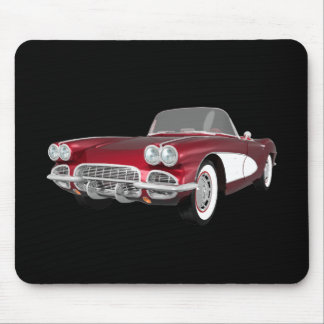 Corvette 1961 C1: El caramelo Apple acaba: Tapete De Ratón