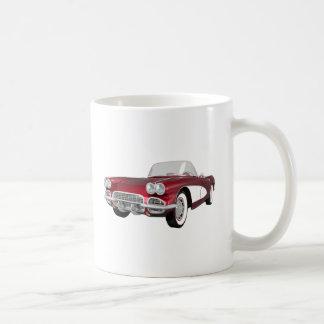 Corvette 1961 C1: El caramelo Apple acaba: Taza Básica Blanca