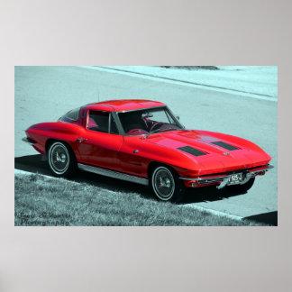 Corvette 1963 póster