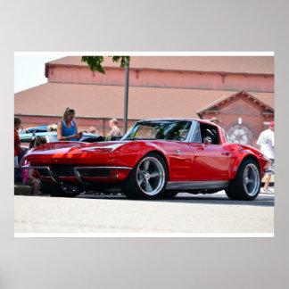 Corvette 1964 póster