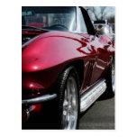 Corvette 1965 de Chevy Tarjetas Postales